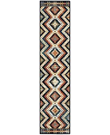 "Alexandria Kilim Diamonds Faded Red 2'2"" x 8' Runner Rug"