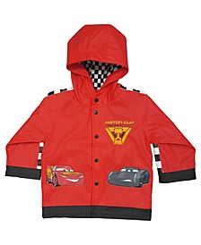 Little and Big Boy's Lightning McQueen Rain Coat