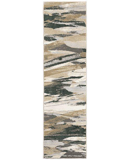 "Palmetto Living Riverstone Impressionist Multi 2'3"" x 8' Runner Rug"