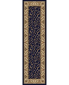 "CLOSEOUT! 1599/1554/NAVY Pesaro Blue 2'2"" x 7'7"" Runner Rug"