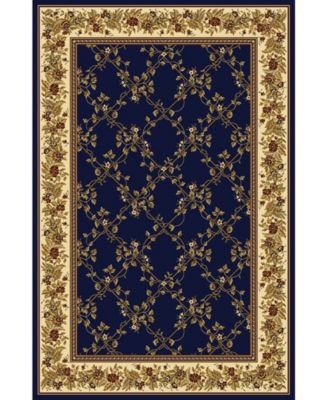 """CLOSEOUT! 1427/1741/NAVY Navelli Blue 5'5"""" x 8'3"""" Area Rug"""