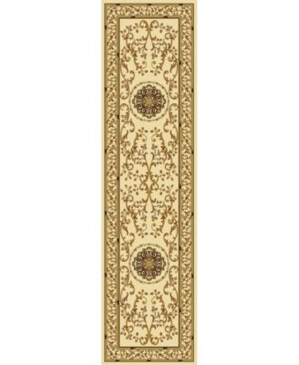 """CLOSEOUT! 1419/1314/IVORY Navelli Ivory 2'2"""" x 8' Runner Rug"""