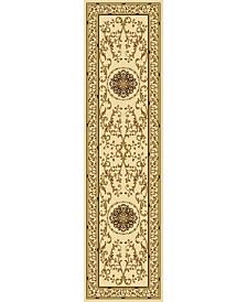 KM Home 1419/1314/IVORY Navelli Ivory 2'2 x 8' Runner Rug