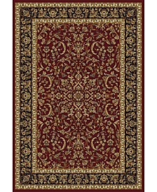 "CLOSEOUT! 1318/1532/BURGUNDY Navelli Red 7'9"" x 11'6"" Area Rug"