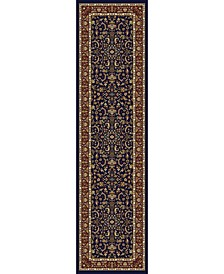 "CLOSEOUT! 1318/1543/NAVY Navelli Blue 2'2"" x 8' Runner Rug"