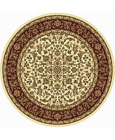 "CLOSEOUT! 1318/1516/IVORY Navelli Ivory/ Cream 5'3"" x 5'3"" Round Area Rug"