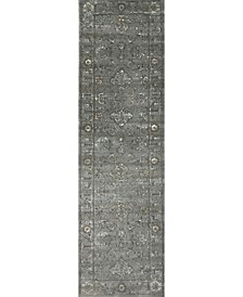 "CLOSEOUT! 3562/0033/Gray Cantu Gray 2'2"" x 7'7"" Runner Rug"