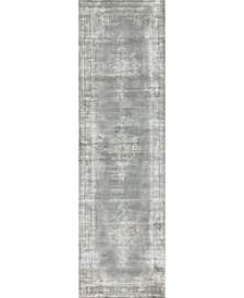 "CLOSEOUT! 3563/0033/Gray Cantu Gray 2'2"" x 7'7"" Runner Rug"