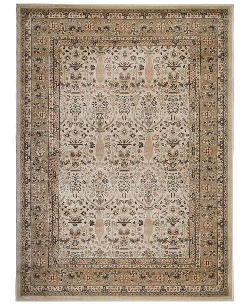 "KM Home CLOSEOUT! 3812/1022/CREAM Gerola Ivory/ Cream 7'10"" x 10'6"" Area Rug"
