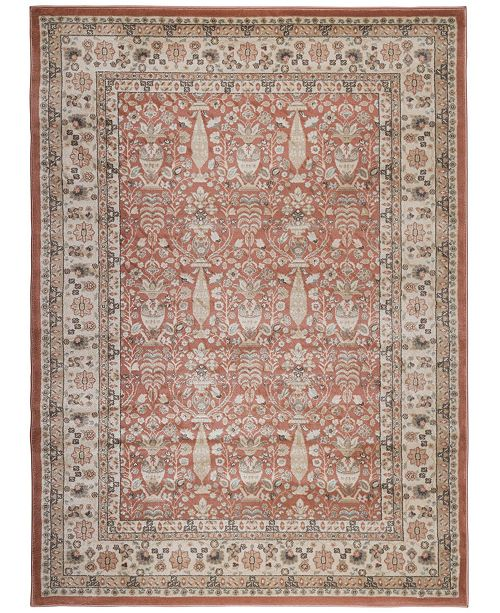 """KM Home CLOSEOUT! 3812/1032/TERRACOTTA Gerola Red 7'10"""" x 10'6"""" Area Rug"""