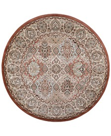 """CLOSEOUT! 3802/0024/TERRACOTTA Gerola Red 5'3"""" x 5'3"""" Round Area Rug"""