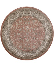 """CLOSEOUT! 3810/0024/TERRACOTTA Gerola Red 5'3"""" x 5'3"""" Round Area Rug"""