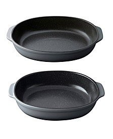 Gem Collection Stoneware Set of 2 Oval Baking Dishes