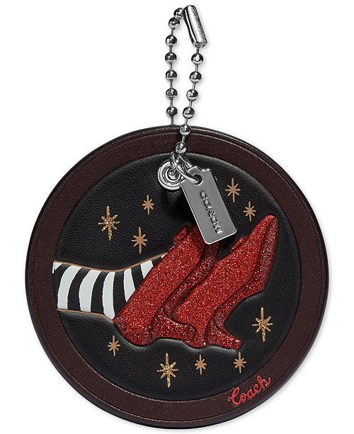 COACH Wizard of Oz Ruby Slippers Leather Hangtag