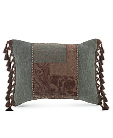 "Croscill Galleria Brown 20"" x 15"" Boudoir Decorative Pillow"