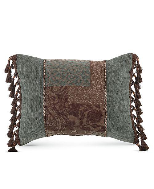 "Croscill Galleria Brown 20"" x 15"" Boudoir Decorative Pillow"