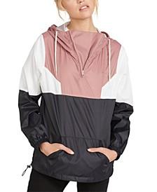 Juniors' Colorblocked Hooded Jacket