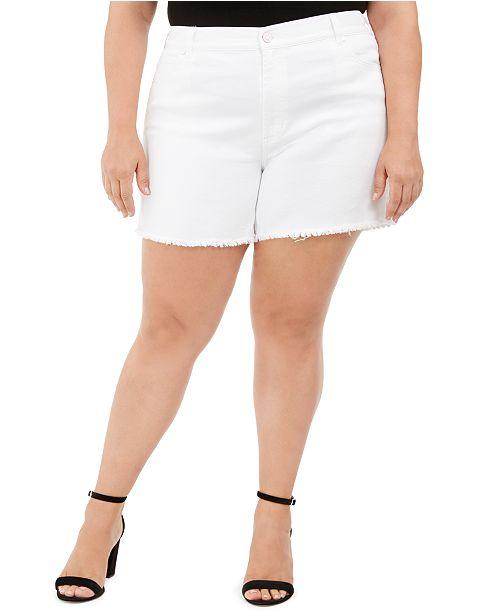 Celebrity Pink Trendy Plus Size Frayed Shorts