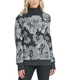 Turtleneck Floral Sweater