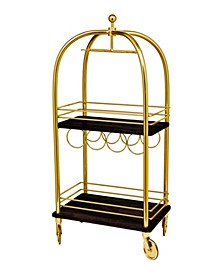 Luggage Bar Cart Large Gold