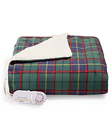 Electric Plaid Comfort Knit/Fleece Throw