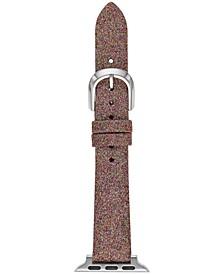 Women's Interchangeable Multicolor Glitter Leather Apple Watch Strap 38mm/40mm