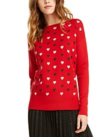 Heart-Print Sweater, Created For Macy's