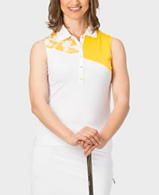 Nancy Lopez Splice Sleeveless Polo Plus
