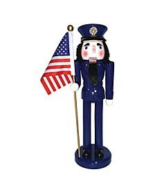 "14"" Air Force Nutcracker with Flag"
