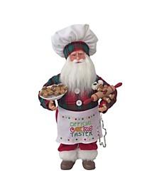 """16"""" Cookie Tasting Santa Claus"""