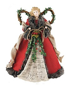 "16"" Homespun Angel Tree Topper"