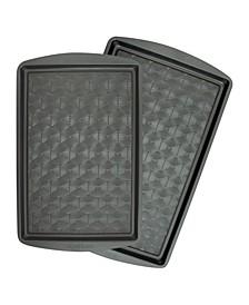 2 Piece Non-Stick Metal Baking Sheet Set