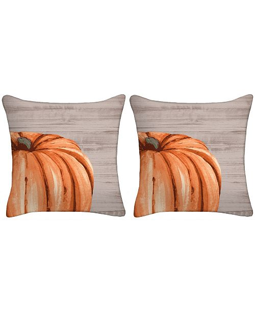 Jordan Manufacturing Set of 2- Harvest Pumpkin Toss Pillow