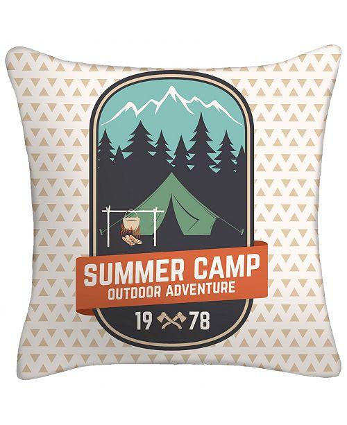 Jordan Manufacturing Summer Camp Outdoor Adventure Toss Pillow