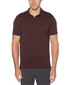 Men's Big & Tall Stretch Open-Collar Polo Shirt