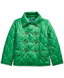 Little Girl's Quilted Double-Breasted Jacket