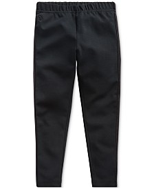 Polo Ralph Lauren Little Girls Stretch Cotton Jersey Tuxedo Legging