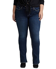 Trendy Plus Size Suki Curvy-Fit Slim Bootcut Jeans