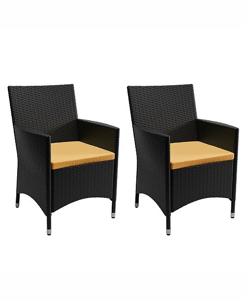 Corliving Distribution Cascade 2 Piece Patio Chair Set