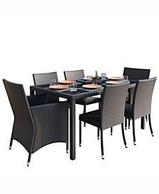 Distribution Park Terrace 7 Piece Weave Patio Dining Set