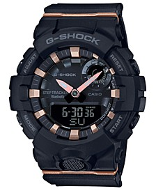 Men's Analog-Digital Black Resin Strap Watch 45.2mm