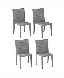 Distribution Brisbane Rattan Wicker Dining Chairs, Set of 4