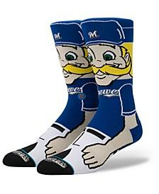 Milwaukee Brewers Mascot Crew Socks