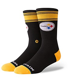 Pittsburgh Steelers Spirit Strip Crew Socks