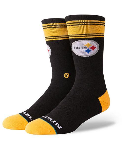 Stance Pittsburgh Steelers Spirit Strip Crew Socks