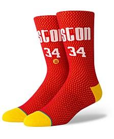 Hakeem Olajuwon Houston Rockets Hardwood Classic Jersey Crew Socks
