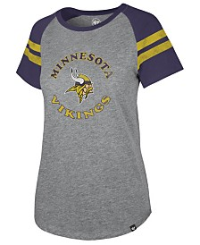 '47 Brand Women's Minnesota Vikings Flyout Raglan T-Shirt