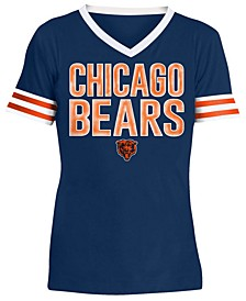 Big Girls Chicago Bears Sequin Stripe T-Shirt