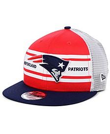 New England Patriots Classic 77 Stripe Mesh 9FIFTY Cap