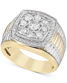 Men's Diamond Cluster Ring (2 ct. t.w.) in 10k Gold